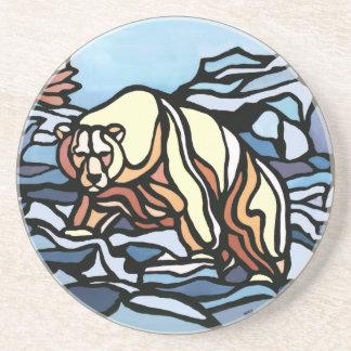 Polar Bear Art Coasters Native Art Bear Coaster