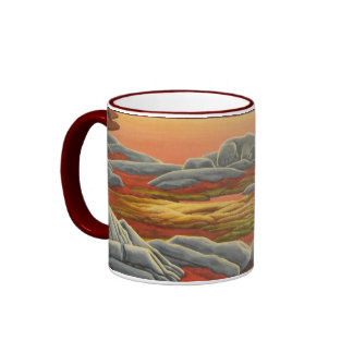 Polar Bear Art Coffee Mug Wildlife Art Bear Cup