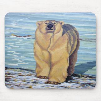 Polar Bear Art Mousepad Stylish Wildlife Mousepad