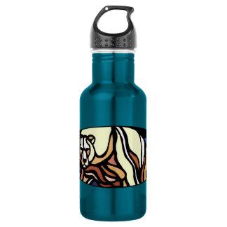 Polar Bear Art Native Bear Art Stainless Steel Water Bottle