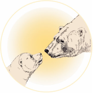 Polar Bear Art Ornament Bear Keepsake & Gifts