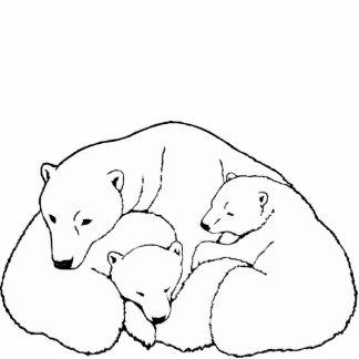 Polar Bear Art Ornament Bear Keepsake & Gifts Photo Cut Out