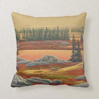 Polar Bear Art Pillow Personalized Bears Pillow