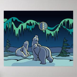 Polar Bear Art Poster Print First Nation Wildlife