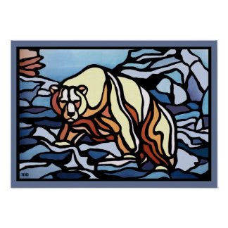 Polar Bear Art Print First Nation Wildlife Poster