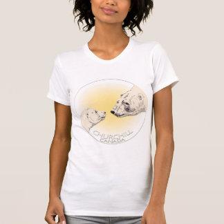 Polar Bear Art Tank Top Women's Churchill Shirt