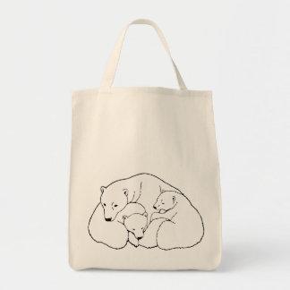 Polar Bear Art Tote Bag Organic Shopping Bag