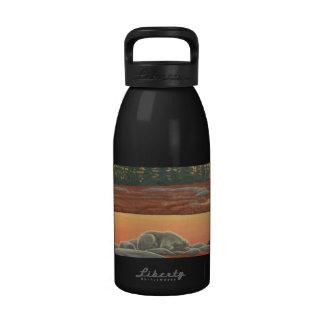 Polar Bear Art Water Bottle Bear Art Sport Bottle