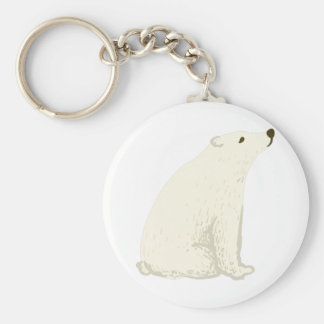 Polar Bear As A National Canadian Culture Symbol Keychain