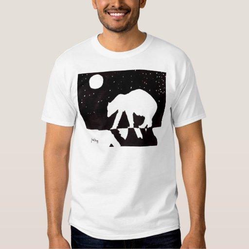 Polar Bear at Night on Arctic Ocean T-shirt
