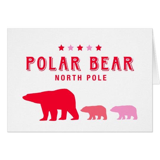 Polar Bear at North Pole Card