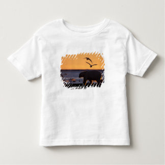 Polar bear at sunrise with glaucous-winged toddler t-shirt