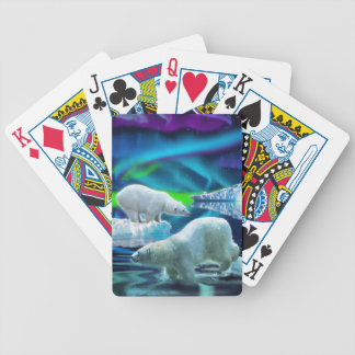 Polar Bear & Aurora Arctic Wildlife Art Deck Bicycle Playing Cards