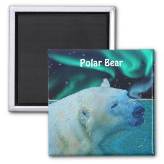 Polar Bear & Aurora Arctic Wildlife Art Magnet