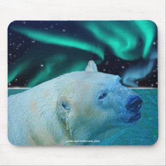 Polar Bear & Aurora Borealis Art Mousepad