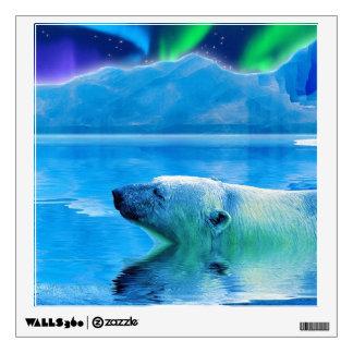 Polar Bear & Aurora Fantasy Art Display Decal