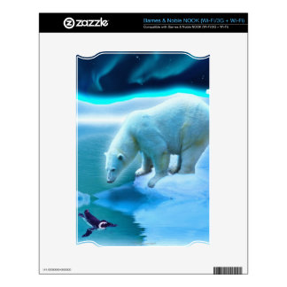 Polar Bear Aurora Wildlife Device Skin NOOK Skin
