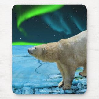 Polar Bear & Aurora Wildlife Supporter Gift Mouse Pad