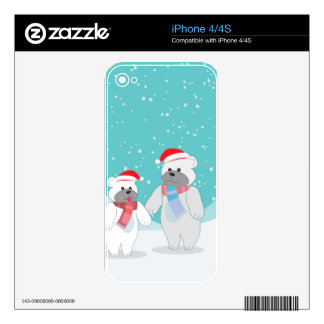 polar bear B Skins For iPhone 4