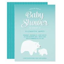 Polar Bear Baby Card