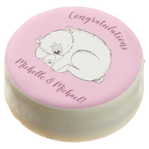 Polar Bear Baby Shower Pink Girl Chocolate Covered Oreo