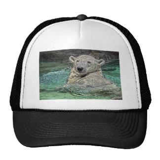 Polar Bear Back Stroke Ball Cap Mesh Hats