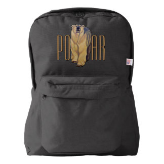 Polar Bear Backpack Bear School Bags Customizable