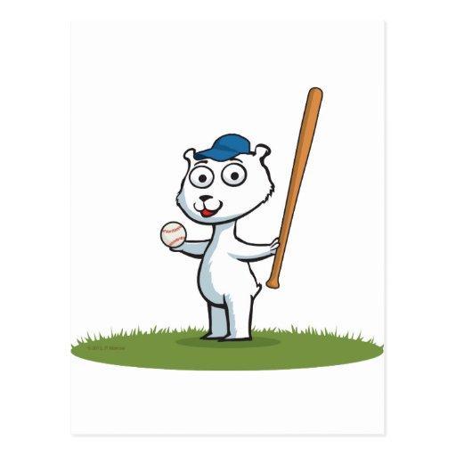Polar Bear Baseball Post Cards