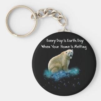 Polar Bear Basic Round Button Keychain