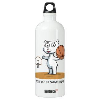 Polar Bear Basketball Water Bottle