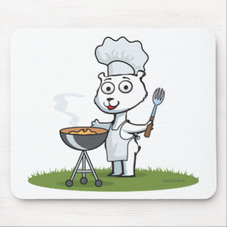 Polar Bear BBQ Mouse Pad