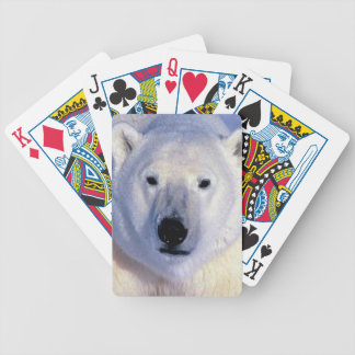 Polar Bear Bicycle Playing Cards