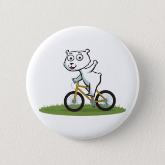 Polar Bear Biker Button