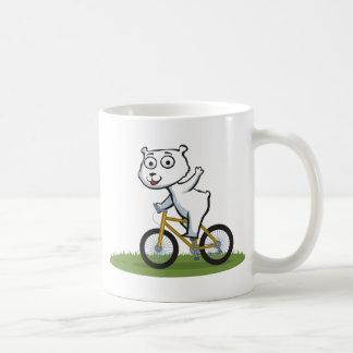 Polar Bear Biker Coffee Mugs