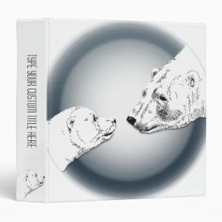 Polar Bear Binder Bear Art Photo Album Custom
