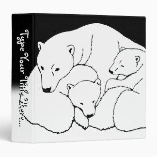 Polar Bear Binder Cute Bear Art School Supplies