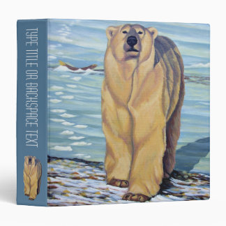 Polar Bear Binder Wildlife Art School Supplies