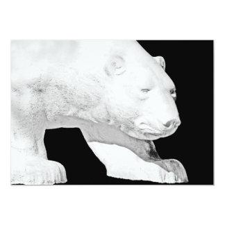 Polar Bear, Black Background (5) Card