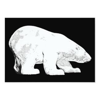 Polar Bear, Black Background (6) Card