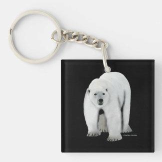 """Polar Bear"" Black Keychain"