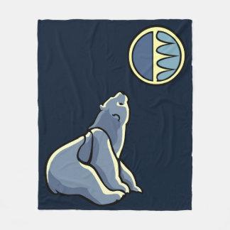 Polar Bear Blanket Tribal Art Bear Blankets Fleece Blanket