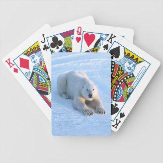 Polar Bear Blue Bicycle Playing Cards