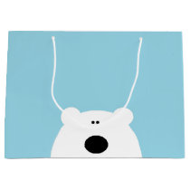 Polar Bear Blue Large Gift Bag