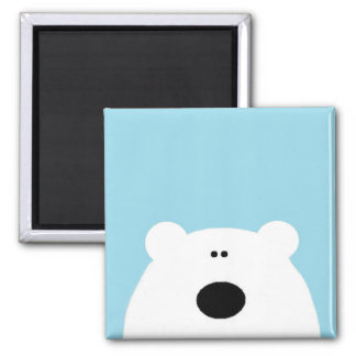 Polar Bear Blue Magnet