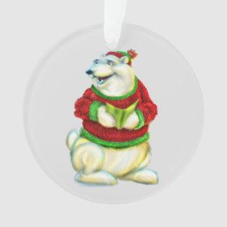Polar Bear Bo Christmas Ornament