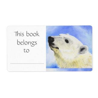 Polar Bear book label