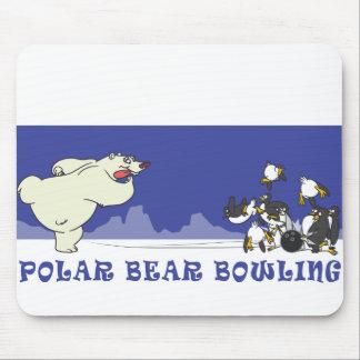 POLAR BEAR BOWLING MOUSE PAD