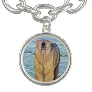 Polar Bear Bracelet Wildlife Art Bear Jewelry
