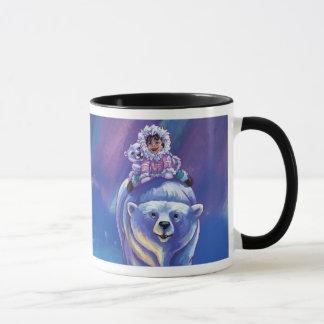 Polar Bear Bus Mug