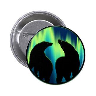Polar Bear Button / Pin Wildlife Art Button